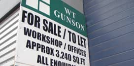 WT Gunson For Sale/To Let sign